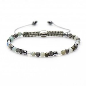 KARMA Jewelry KARMA Armband | Spiral Liberty XXS | Light Grey Crystal | 84170