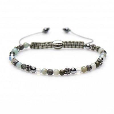 KARMA Jewelry KARMA Armband | Spiral Liberty XXS | Light Grey Crystal | 84170