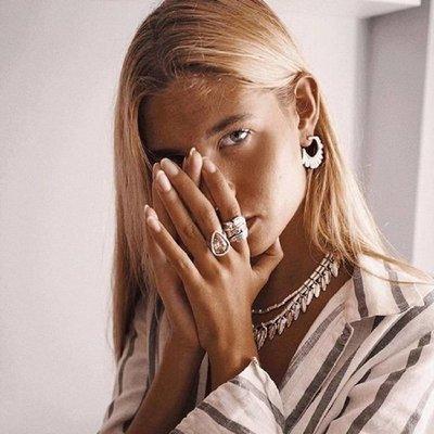UNOde50 UNOde50 Ring | STRUT | Zilver | Kristal | Pink | FW18 | ANI0578RSAMTL