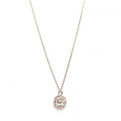 KARMA Jewelry KARMA Ketting | COIN | Zilver | Rose | T36-COL-CC-RP
