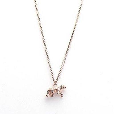 KARMA Jewelry KARMA Ketting | LEOPARD | Zilver | Rose | T48-COL-RP