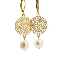 LILLY LILLY Oorbellen | Filli Large Gold | Pearl | 14 Karaats