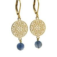LILLY LILLY Oorbellen | Filli Medium Gold | Blue Sapphire | 14 Karaats