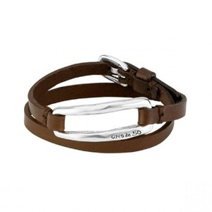 UNOde50 UNOde50 Armband | DOUBLE TRAPPED | ZILVER | LEER | FW18