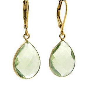 LILLY LILLY Oorbellen | Precious Drop Medium  Gold | Amethist | 14 Karaats