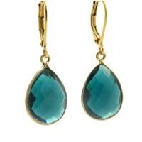 LILLY LILLY Oorbellen | Precious Drop Medium  Gold | Blue | 14 Karaats