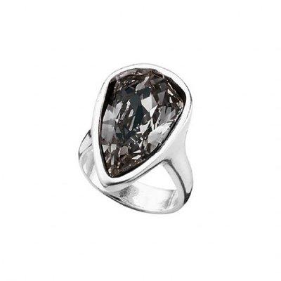 UNOde50 UNOde50 Ring | STRUT | Zilver | Kristal | Grijs | FW18 | ANI0578GRSMTL
