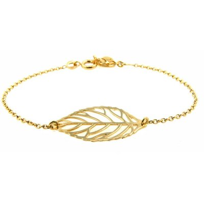 LILLY LILLY Armband | Goldies | Big Leaf | 14 Karaats | A12