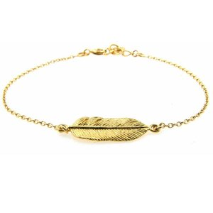 LILLY LILLY Armband | Goldies | Feather | 14 Karaats