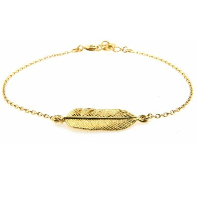 LILLY LILLY Armband | Goldies | Feather | 14 Karaats | A11