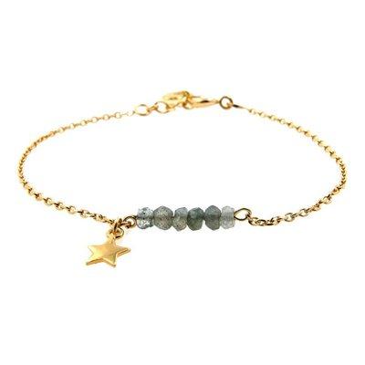 LILLY LILLY Armband | Precious star | Labradoriet | 14 Karaats |  A21