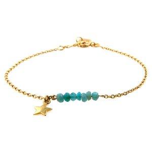 LILLY LILLY Armband | Precious star | Amazoniet | 14 Karaats