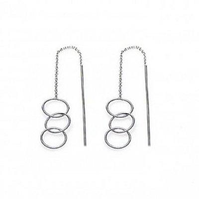 KARMA Jewelry KARMA Oorbellen | PULL THROUGH | OPEN TRIPLE CIRCLE | ZILVER | M1840