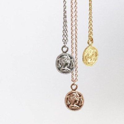 KARMA Jewelry KARMA Ketting | COIN | Zilver | Goud | T37-COL-CC-GP