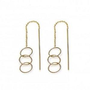 KARMA Jewelry KARMA Oorbellen | PULL THROUGH | OPEN TRIPLE CIRCLE | GOLD