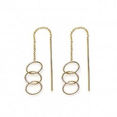 KARMA Jewelry KARMA Oorbellen | PULL THROUGH | OPEN TRIPLE CIRCLE | GOLD | M1842