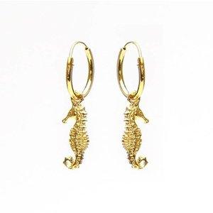 KARMA Jewelry KARMA CREOLEN | HOOPS SEAHORSE | GOLD
