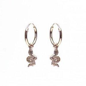 KARMA Jewelry KARMA CREOLEN | HOOPS SNAKE | ROSE GOLD