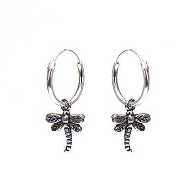 KARMA Jewelry KARMA CREOLEN | HOOPS DRAGONFLY | ZILVER | M1404