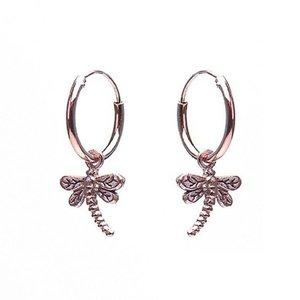 KARMA Jewelry KARMA CREOLEN | HOOPS DRAGONFLY | ZILVER | ROSE