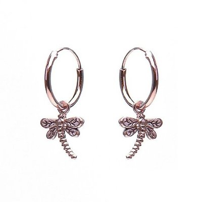 KARMA Jewelry KARMA CREOLEN | HOOPS DRAGONFLY | ZILVER | ROSE | M1405