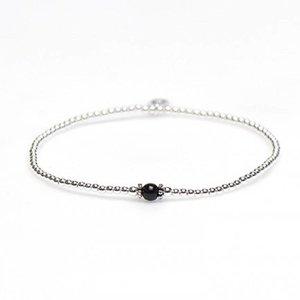 KARMA Jewelry KARMA Armband | XS Balistyle Silver | Onyx | 93097ONY