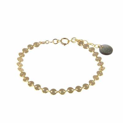 BLINCKSTAR BLINCKSTAR Armband | Gold Filled | Muntjes | 1901A40