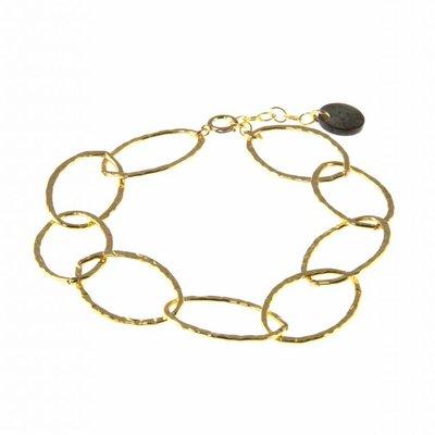 BLINCKSTAR BLINCKSTAR Armband | Goldfilled | XL Schakel | Gehamerd | 1901A72