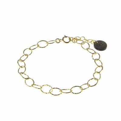 BLINCKSTAR BLINCKSTAR Armband | Goldfilled | Schakel | Gehamerd | 1802A69