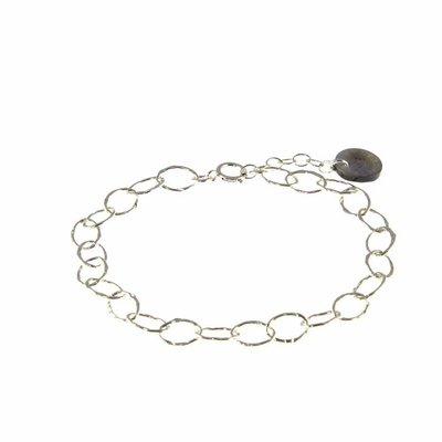 BLINCKSTAR BLINCKSTAR Armband | Sterling Zilver | Schakel | Gehamerd | 1802A66