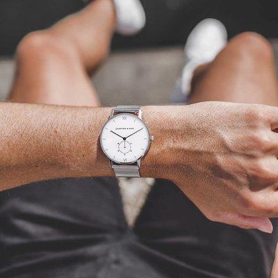 KAPTEN & SON KAPTEN & SON Horloge | HERITAGE | SILVER MESH