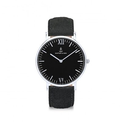 KAPTEN & SON KAPTEN & SON Horloge | CAMPUS | ALL BLACK VINTAGE LEATHER