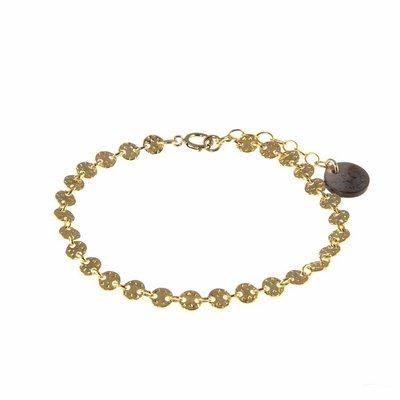 BLINCKSTAR BLINCKSTAR Armband | Gold Filled | Gehamerde Muntjes | 1802A65