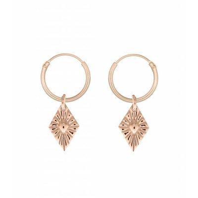 MIAB Jewels MIAB Oorbellen | Rosé Goud | Sparkle | 14k Rosé Goud Vermeil