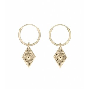 MIAB Jewels MIAB Oorbellen | Goud | Sparkle