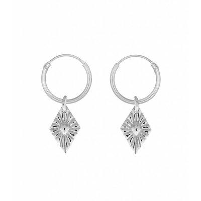 MIAB Jewels MIAB Oorbellen | Zilver | Sparkle | 925 Sterling Zilver