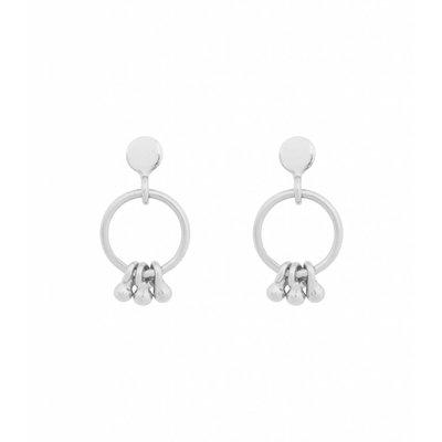 MIAB Jewels MIAB Oorbellen | Zilver | Trio Ring | 925 Sterling Zilver