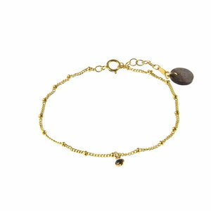 BLINCKSTAR BLINCKSTAR Armband | Goldfilled | Zwart