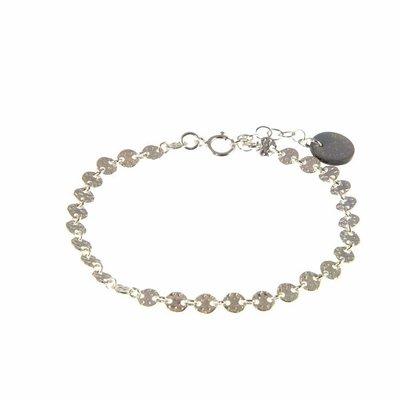 BLINCKSTAR BLINCKSTAR Armband | Sterling Zilver | Gehamerde Muntjes | 1802A62