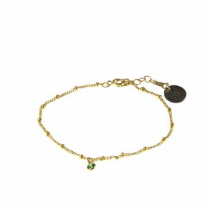 BLINCKSTAR BLINCKSTAR Armband | Goldfilled | Groen