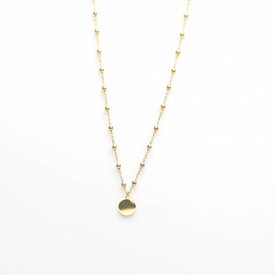 KARMA Jewelry KARMA Ketting | DOTS DISC | Goud | T39-COL-GP-38-45