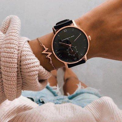 KAPTEN & SON KAPTEN & SON Horloge | HERITAGE | ALL BLACK | ROSE GOLD