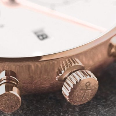 KAPTEN & SON KAPTEN & SON Horloge | CHRONO | ROSE GOLD | MESH