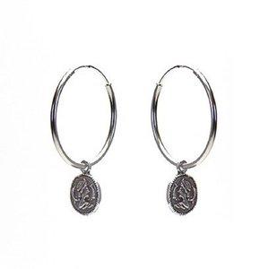 KARMA Jewelry KARMA CREOLEN | HOOPS XL COIN | ZILVER