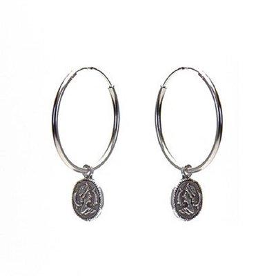 KARMA Jewelry KARMA CREOLEN | HOOPS XL COIN | ZILVER | M1967-25MM