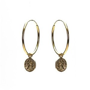 KARMA Jewelry KARMA CREOLEN | HOOPS XL COIN | GOLD