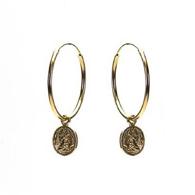 KARMA Jewelry KARMA CREOLEN | HOOPS XL COIN | GOLD | M1969-25MM