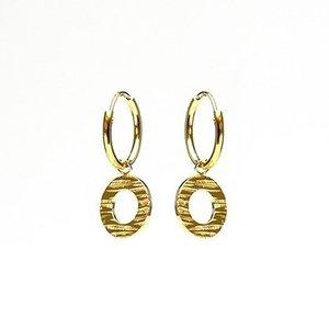 KARMA Jewelry KARMA CREOLEN | HOOPS WOOD PRINT | GOLD
