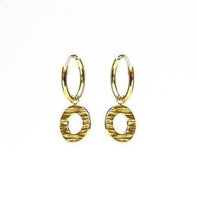 KARMA Jewelry KARMA CREOLEN | HOOPS WOOD  PRINT | GOLD | M2032