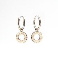 KARMA Jewelry KARMA CREOLEN | HOOPS WOOD PRINT | ROSE